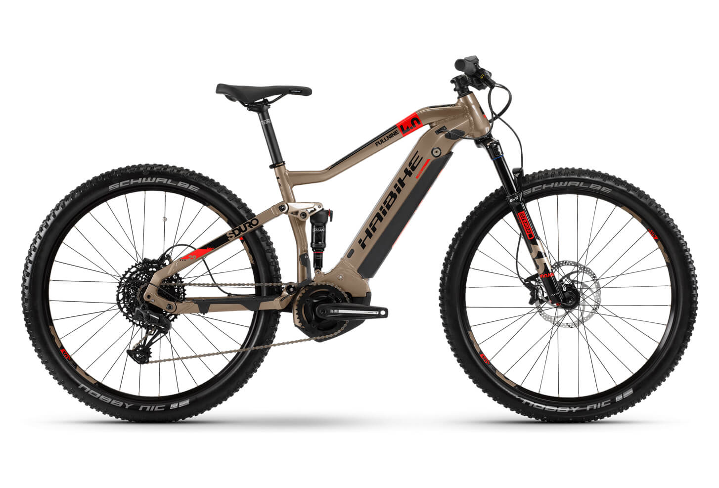 Bicicleta eléctrica de montaña doble suspensión haibike